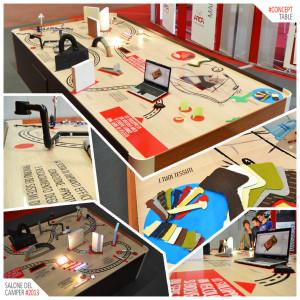 concept tavolo fiera camper Arca